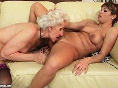 старые лесбиянки учат молодых